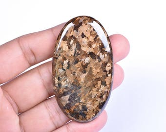 Natural Bronzite Mineral Oval Cabochon Loose Gemstone 33x58x5mm 111 Cts (7609-10)