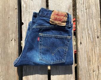 "Levi's 501 27"" Medium Wash High Waist Vintage Jeans"