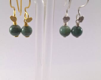 Emerald Earring, Emerald Gold Plated Earring, Emerald Silver Plated Earring, Earring, May birthstone Earrings, Emerald, birthstone earrings.