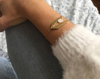 Bracelet-MEIKA-Bohemian-arrow-leather Cork-Pearl