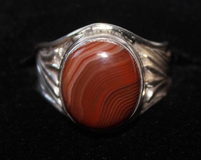 Lake Superior Agate Ring: LSAR-13 Size 9