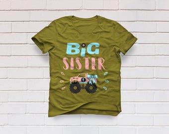 Big sister svg, Sister svg, Monster Truck svg, Big sis svg, Girl SVG Files, Cricut, Cameo, Cut file, Files, Clipart, Svg, DXF, Png, Pdf, Eps