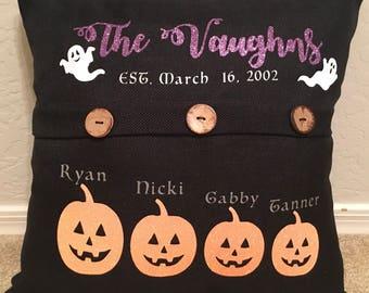 halloween pillow - halloween family pillow - pumpkin pillow - ghost pillow - halloween home decor - decorative pillow
