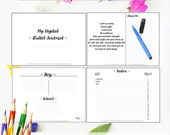 Digital Planner GoodNotes, Digital Bullet journal, Digital Planner, Digital Dot Paper, Student Planner, Monthly Planner, Daily Planner