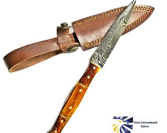 Hand forged Damascus Dagger, Boot knife by Titan TD-345