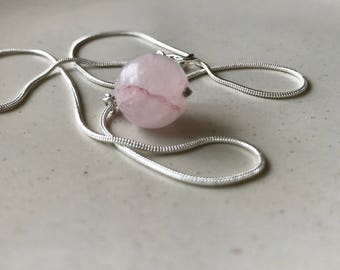Rose Quartz Crystal Gemstone Necklace