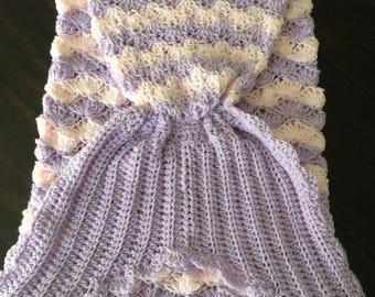 """Mermaid Tail Blanket """"Leila"""""""