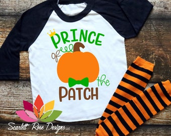 Prince of the Patch cute Halloween Thanksgiving pumpkin bowtie SVG cut file for silhouette cameo and cricut
