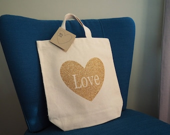 Set of 6 Heart Tote Bags, Bridesmaid Gifts, Mix & Match Colors!