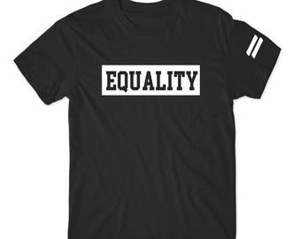 Equality Shirt or Sweater, Equality Clothing Equality Shirt Equal Rights Gender Equality LGBT Equality Sweatshirt Equal Rights Race Religion