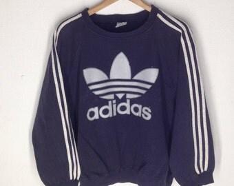Vintage Adidas Big Logo Sweaters Size L