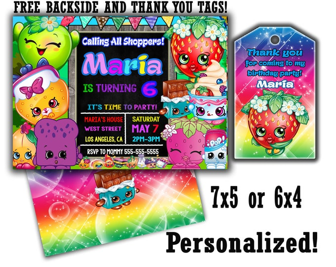 Shopkins invitation, Shopkins invite, Shopkins invites Shopkins invitations Shopkins thank you tags Shopkins kit Shopkins theme Shopkins