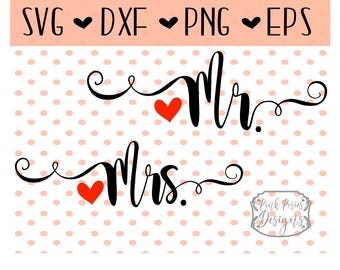 Mr Mrs SVG Cutting File, Bride SVG File for Wedding, Mr Mrs SVG Cut File for Cameo, Wedding svg, Mr Mrs png, Mr Mrs Studio File, Wedding Cut