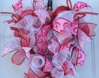 Valentine's Day Wreath, Valentine's Day Decor, Front Door Wreath