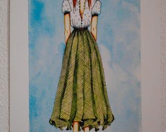 Ginger / Fashion illustration (print)