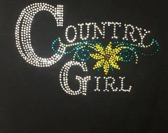 Country Girl Rhinestone T-Shirt