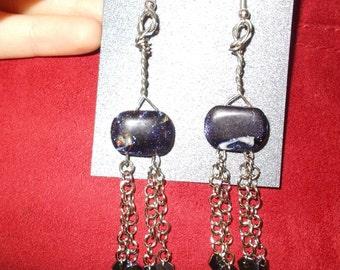 Indigo sparkle earrings