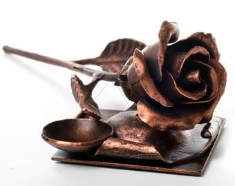 Copper metal rose - 7th anniversary gift for wife