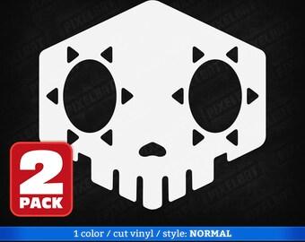 2X SOMBRA BOOP Overwatch Vinyl Decal Sticker (for Macbook, Laptop, Tablet, Phone, Car Windshield, Window, Bumper)