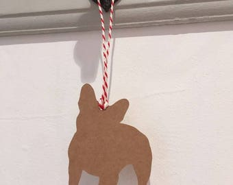 Frenchie / French Bulldog Gift Tag/Christmas - PACK OF FIVE