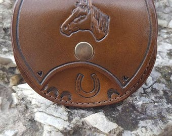 """Theme """"Horse"""" leather wallet"""