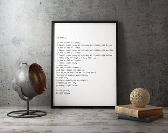 Framed Wall Art   Albert Camus Quote, Framed Art Poster For Bedroom Decor,  Invincible