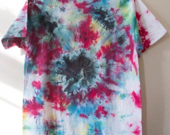 M Abstract Tie Dye Short Sleeved T-shirt