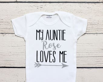 My auntie loves me onesie | Aunt onesie, Aunt gift, Baby shower gift, My aunt loves me bodysuit, onesie, toddler shirt, kids shirt, shirt