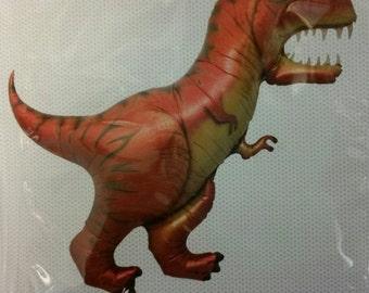 T-Rex Foil Balloon, Giant T-Rex Foil Dinosaur Balloon, Dinosaur Balloon 119cm