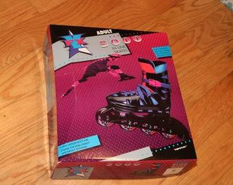 VARIFLEX Rollerblades Men Size 12 (NEW!) 1980s-1990s Vintage Old School Skates Graphite Barbie
