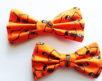 Halloween Bow Ties,Dad and Son Bow Ties, Father Son Bow Tie, Mens Bow Tie,Orange, Halloween Bow Tie,Mens Bowtie, Bow Tie, Boys Bow Tie DS715