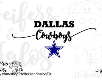 Dallas Cowboys svg, pdf, png, eps, dxf cut file for cricut and silhouette.  Use design for t-shirts, decals, cups, etc