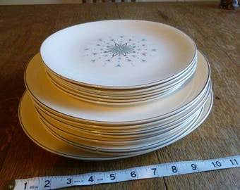 Unusual dishes, Johnson Brothers, Atomic-style pattern