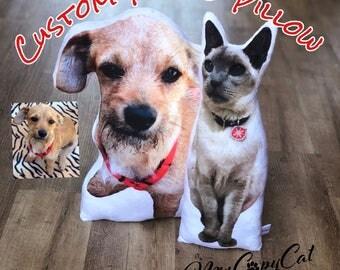 Custom Pet Pillow - Animal Pillow Pet - Custom Photo Cat Pillow - Custom Photo Dog Pillow - Pet Lover Christmas Gift Idea - Dog Mom Gift