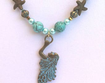 Antique Inspired Mermaid Necklace