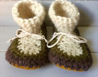 Womens slippers, Crochet slippers, Ladies slippers, Wool slippers, High cuff slippers, Mukluk slippers, Leather sole slippers, Sheepskin