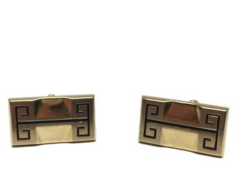 Greek Key Mid Century Vintage Cufflinks