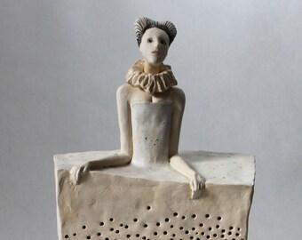 Ceramic Sculpture , Fine Art Ceramic , Art Object , Handmade Clay Sculpture , Ceramic Art , Ceramic Figurine , Pottery,
