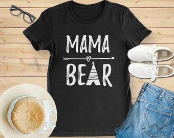 Mama bear, mama bear shirt, mama bear tshirt, mama bear t shirt, mama bear gift, shirt for mama bear, gift for mama bear, mama bear cute tee