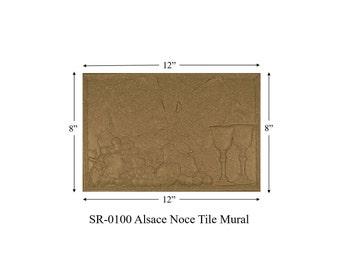 SR-0100 ALSACE Tile Mural, decorative tiles for kitchen backsplash, kitchen backsplash pictures, backsplash ideas for granite countertops