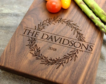 Personalized Cheese Board, Serving Board, Bread Board, Custom, Engraved, Wedding Gift, Housewarming Gift, Anniversary Gift, Engagement #5