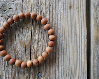 Sandalwood bracelet yoga bracelet wood bracelet mala beads meditation beads yoga beads yoga jewelry