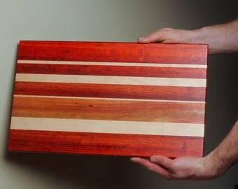 Stunning Padauk and Maple Cutting Board