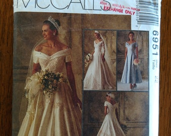 1994 McCall's Alicyn Exclusives Petite-able #6951 Bridal Gown and Bridesmaid Dress Pattern - Size 22