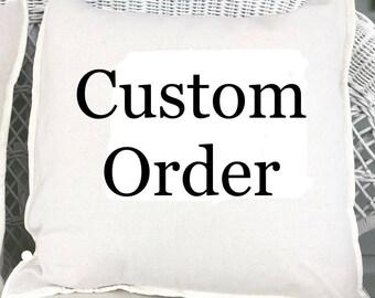 custom pillow, 16x16,14x14,18x18,20x20, bedroom, livingroom, entryway, handmade pillow, embroidery pillow, shabby chic pillow, farmhouse