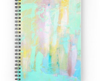 Spiral Notebook, Green Abstract notebook - FREE Shipping
