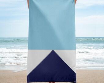 HUE No.3 Block Colour Beach Towel