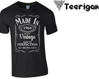 Made in 1966 Style Fashion Top Custom Made T-Shirt Perfect Gift. Pm Us if you want a bundle deal !