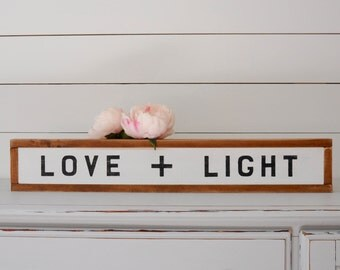 Love and Light | Wood Wall Decor | Wood Signs | Wall Hangings | Rustic Wall Decor