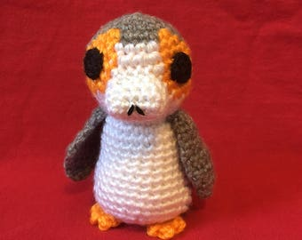 Crocheted Porg - from Disney's Star Wars: The Last Jedi